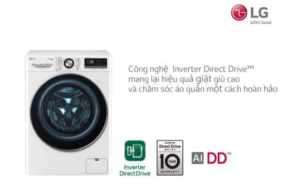 Công nghệ giặt trên máy giặt LG hiện nay