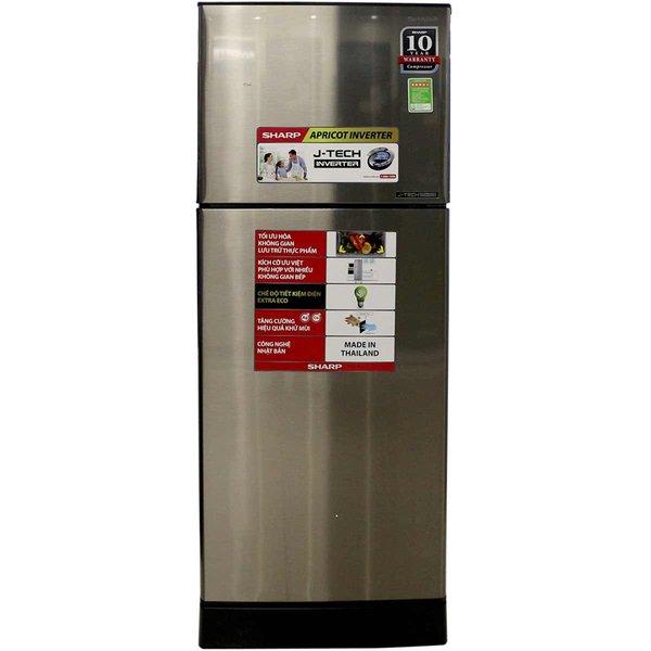 Tủ lạnh Sharp SJ-X201E-SL 196 lít 2 cửa Inverter