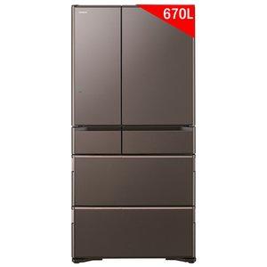 Tủ lạnh Hitachi 670 lít R-WX67J (XH) 6 cửa - Nội địa Nhật 2018
