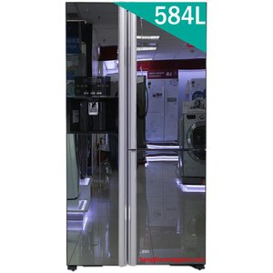 Tủ lạnh Hitachi Side By Side 3 cửa 584L R-M700GPGV2X, Inverter