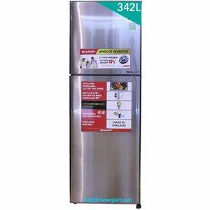 Tủ lạnh Sharp SJ-X346E-SL 342 lít 2 cửa Inverter