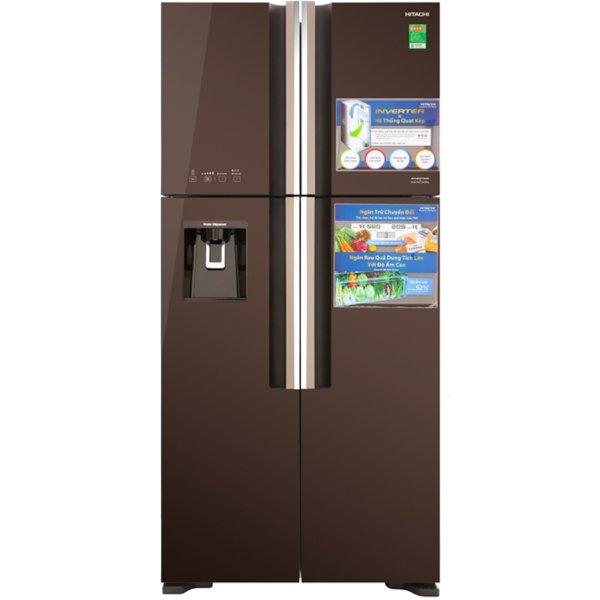 Tủ lạnh Hitachi 540 lít R-FW690PGV7 (GBW) Inverter Nâu gương