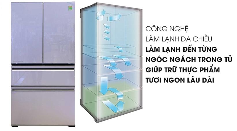 Tủ lạnh Mitsubishi 564 lít MR-LX68EM-GSL - Chính hãng giá tốt