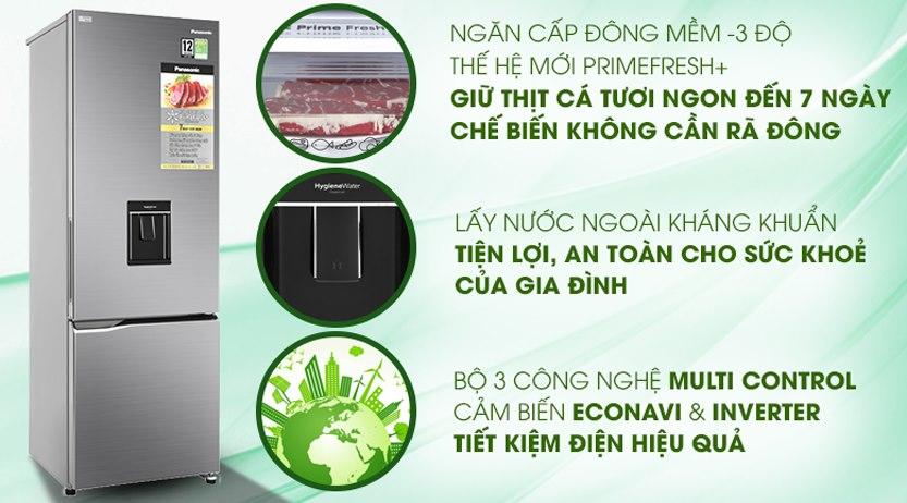 Tủ lạnh Panasonic NR-BV320WSVN 290 lít