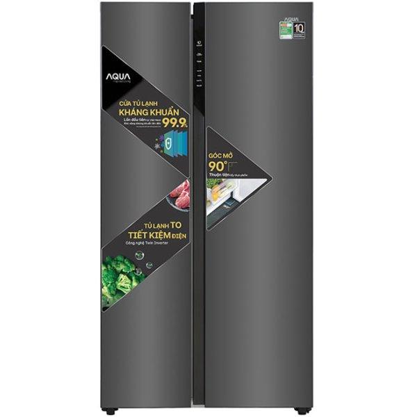 Tủ lạnh Side By Side Aqua AQR-S541XA 541 lít