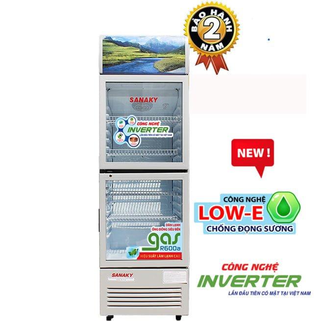 Tủ Mát Sanaky VH-258W3L 210 lít 2 cửa Inverter