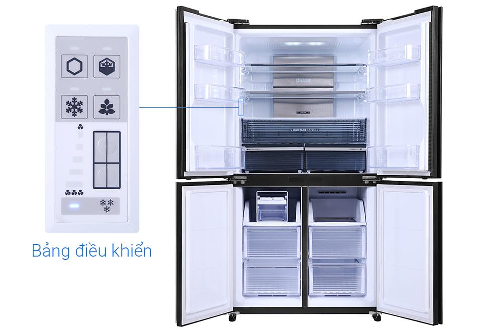 Tủ lạnh Sharp SJ-FX600V-SL 590 lít 4 cửa Inverter