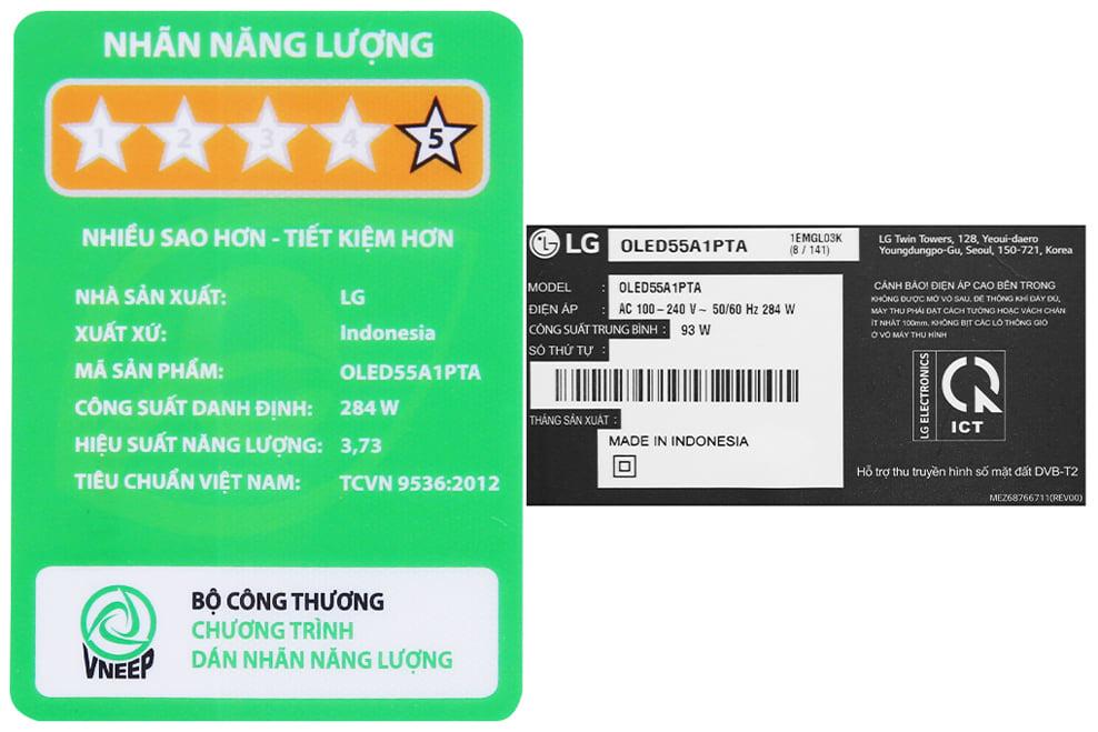 Smart Tivi OLED LG 55A1PTA 4K 55 inch