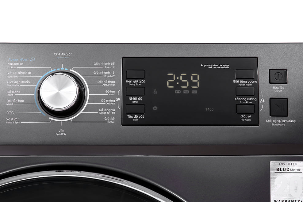 Máy giặt Casper WF-125I140BGB 12.5 Kg Inverter