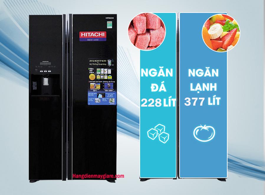 Tủ lạnh Hitachi R-FS800GPGV2  GBK  589 lít giá rẻ