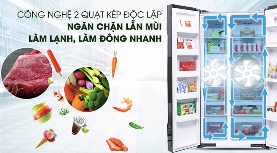 Tủ lạnh Hitachi Side By Side R-FS800PGV2 giá rẻ tại Hà Nội