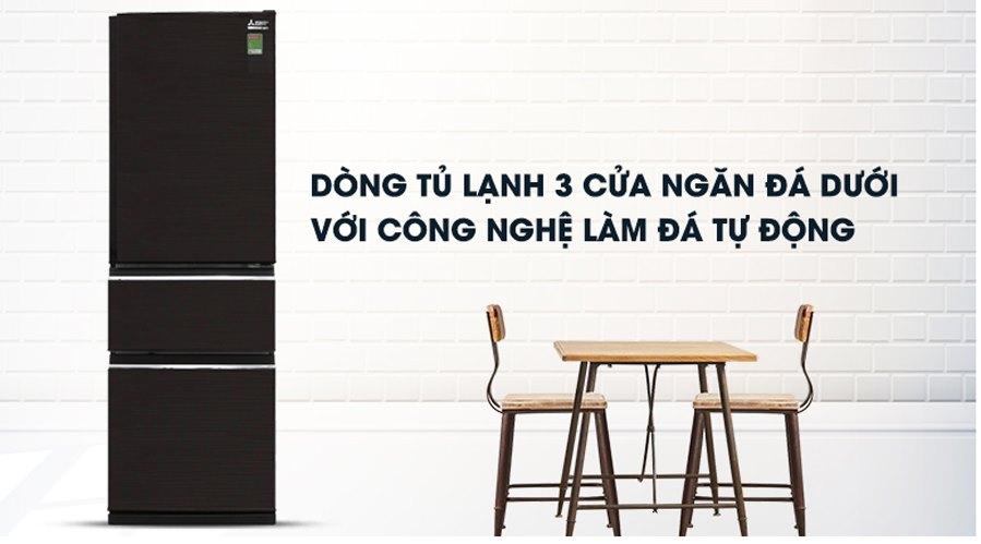 Tủ lạnh Mitsubishi MR-CGX41EN (GBK) 330 lít - Giá rẻ tại Hà Nội