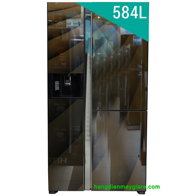 Tủ lạnh Hitachi R-FM800AGPGV4X 3 cửa 584 lít, Inverter mặt gương