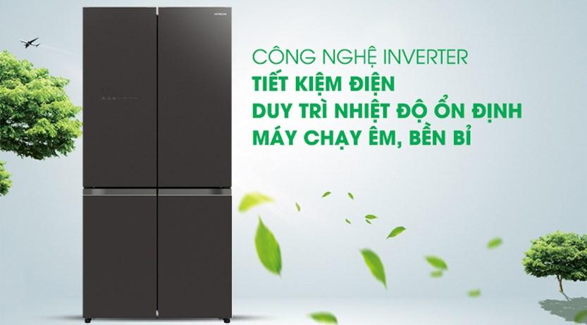 Tủ lạnh Hitachi R-WB640VGV0  GBK/GMG  569 lít chính hãng giá tốt